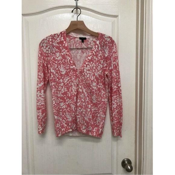 fd39ecf64c5e75 Talbots Women s Floral Print Cardigan Sweater MP. M 5b789d5c6a0bb742f17d5326